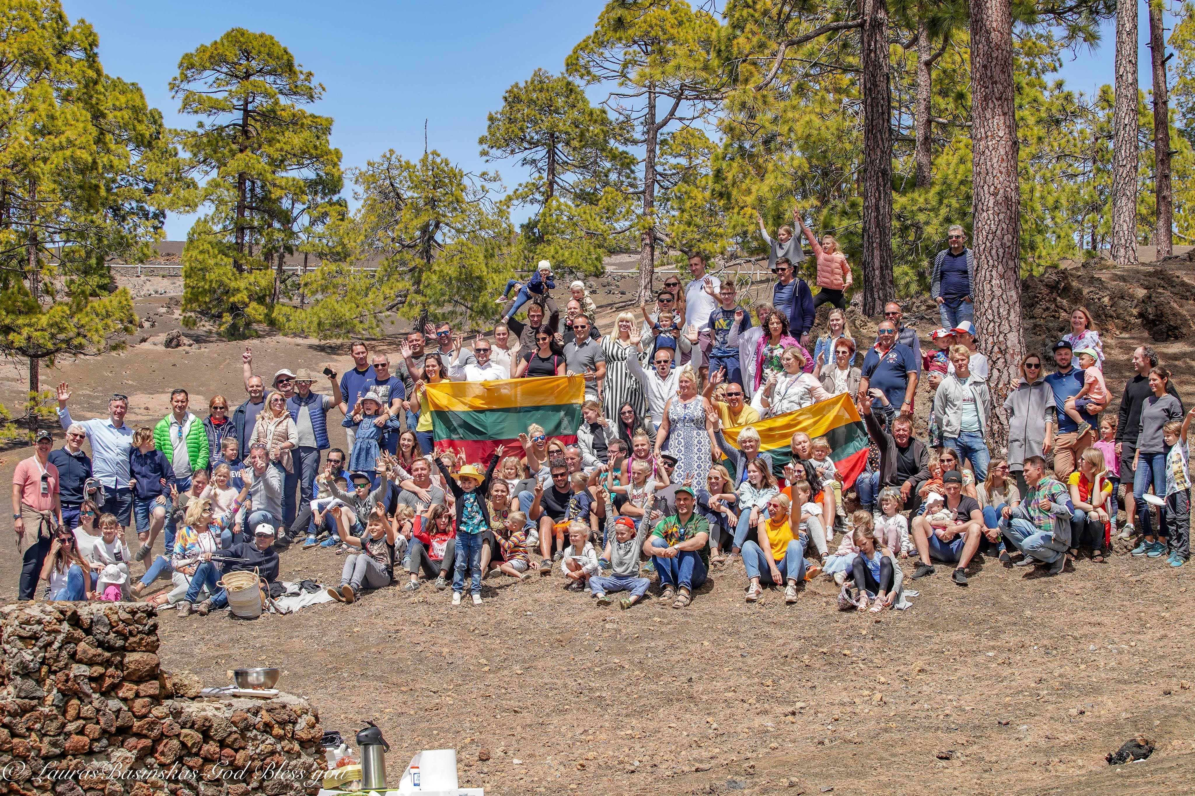 Lietuvių bendruomenė Tenerifė, Velykos kalnuose, 2019 balandis