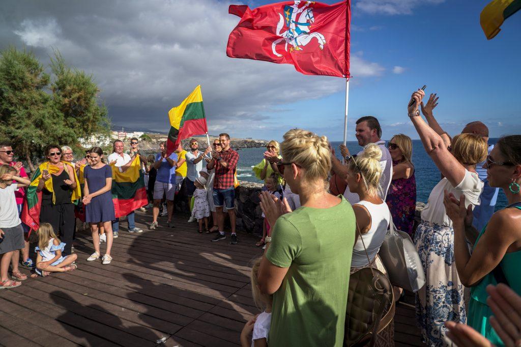 Tautiška giesmė 2019 Liepos 6 Lietuvių bendruomenė Tenerifėje Casa Lituana Foto Sigitas Meilius