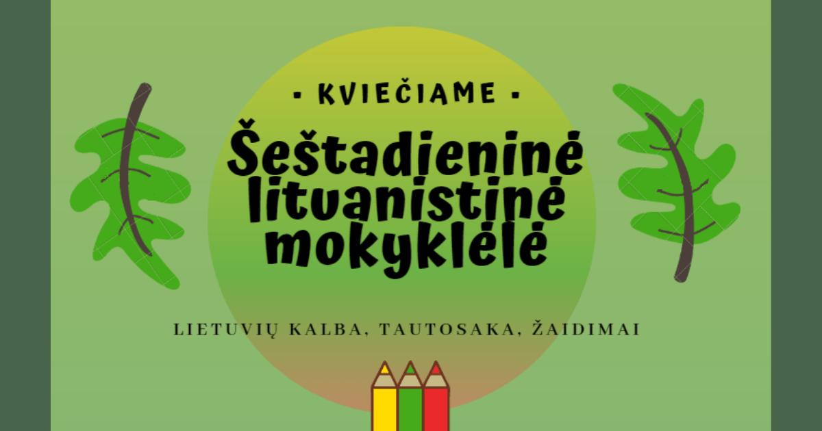 Šeštadieninė lituanistinė mokyklėlė | Lietuvių bendruomenė Tenerifėjė