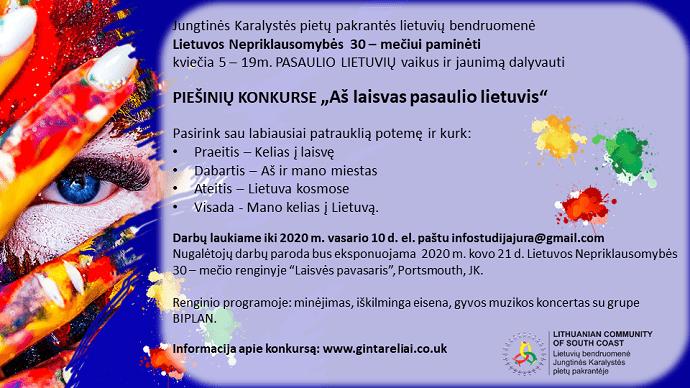 Piešinių konkursas pasaulio lietuvių vaikams