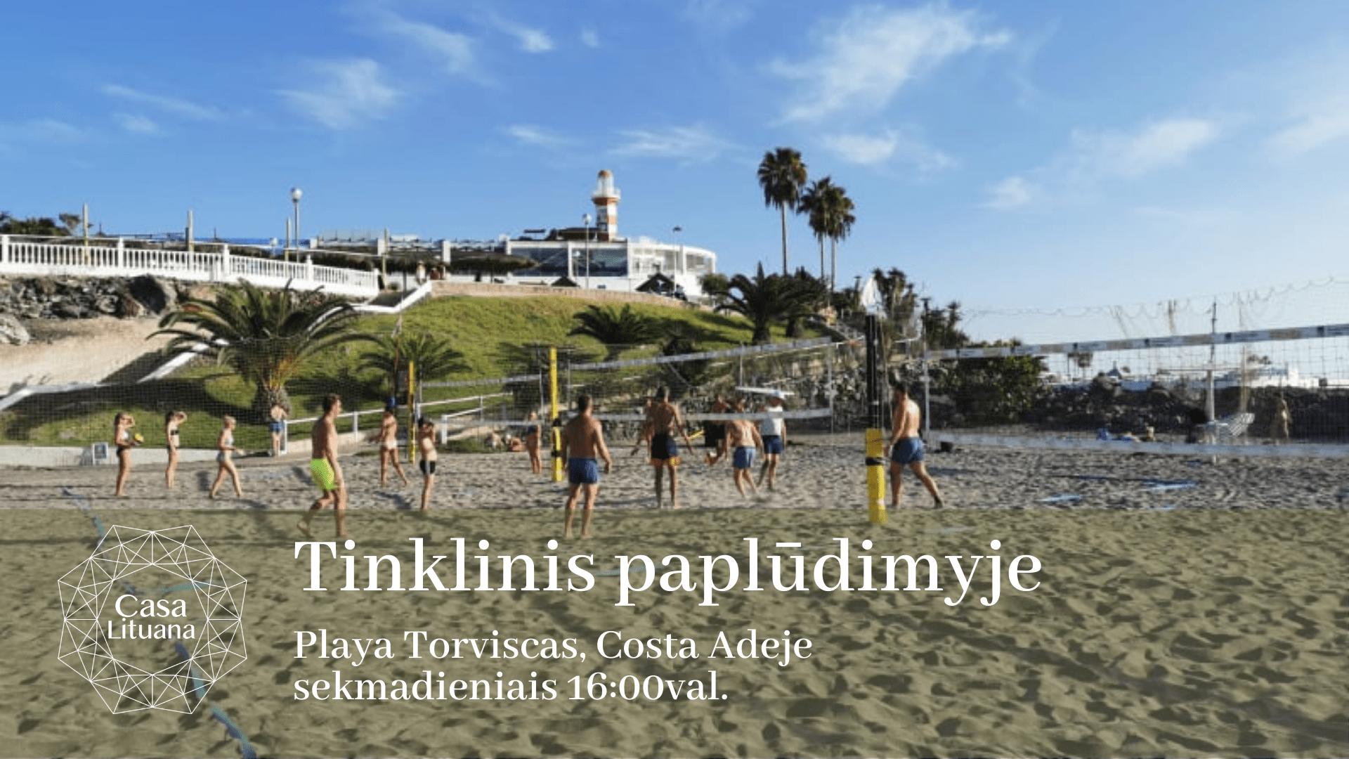 Tinklinis papludimyje renginiai Lietuviu bendruomene Tenerifeje sportas laisvalaikis