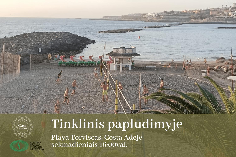 Tinklinis papludimyje Tenerife bendruomene Lietuviu bendruomene