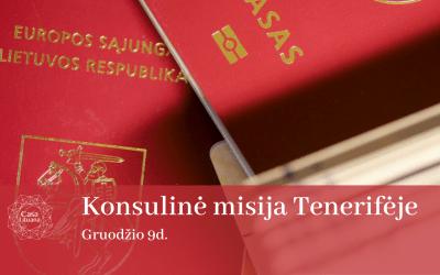 Konsulinė misija Tenerifėje'21 gruodis
